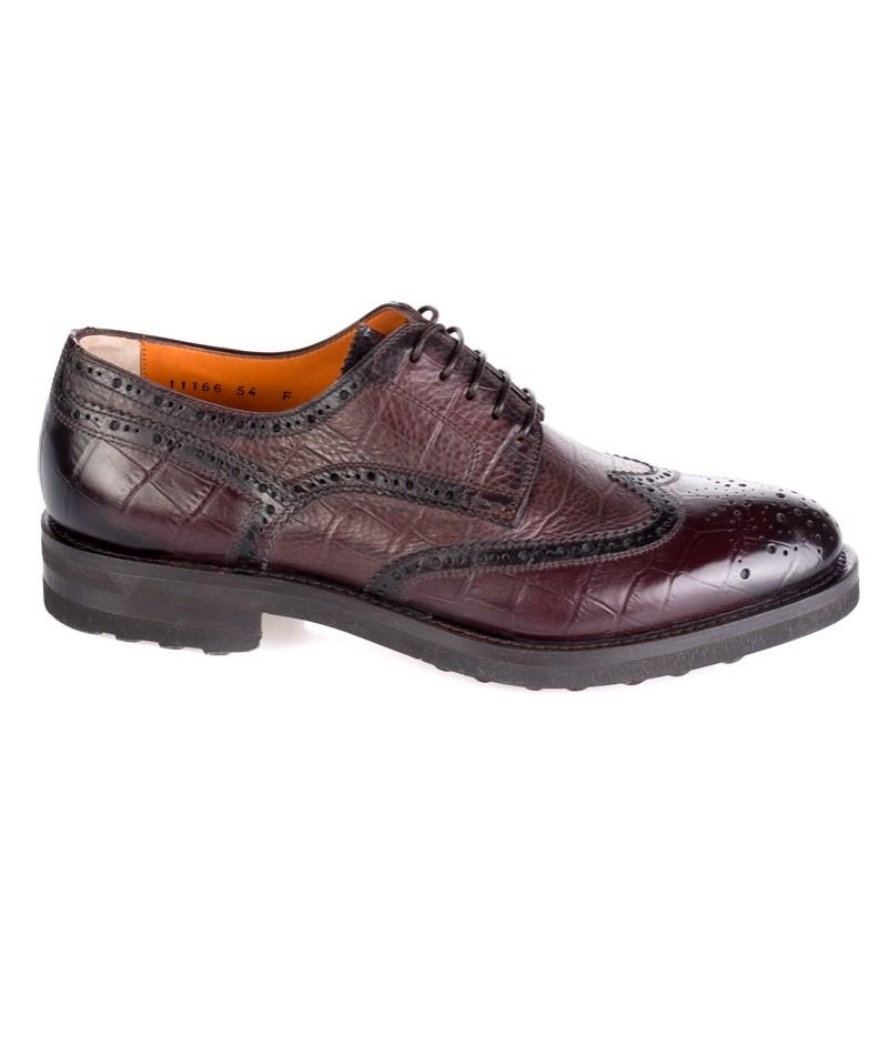 Zapato piel picado inglés Santoni