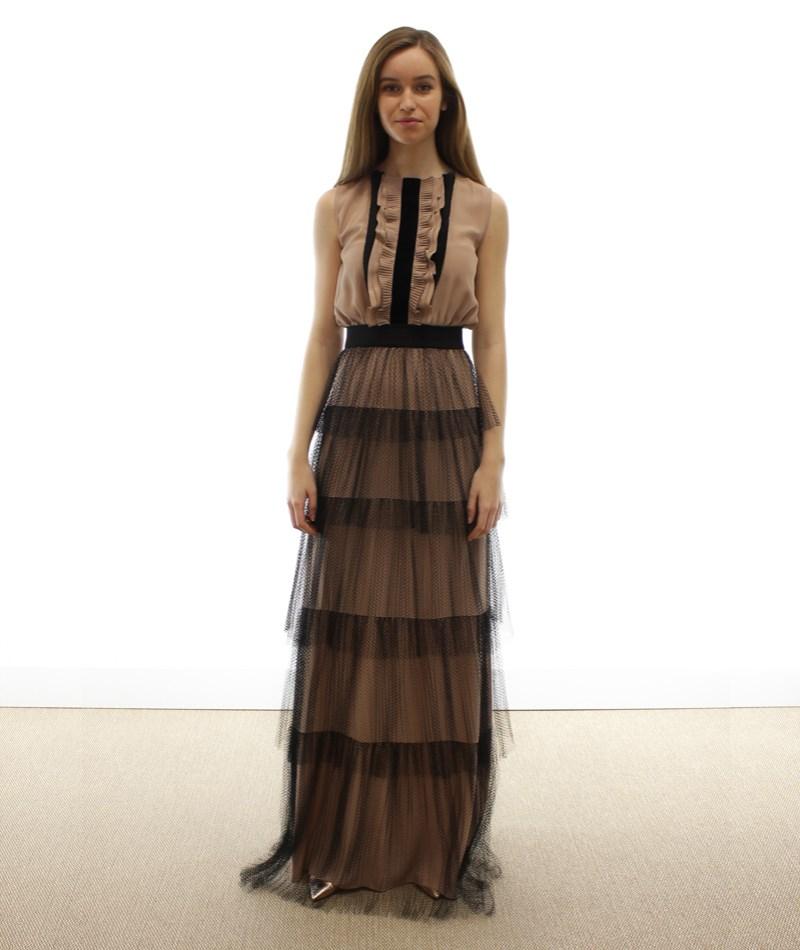 Vestido largo seda Nº21